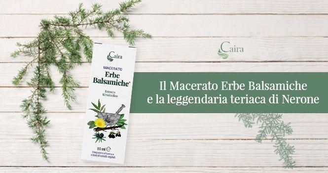 Teriaca di Nerone ed erbe balsamiche